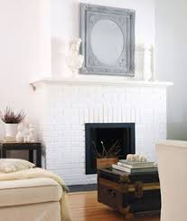 painted white brick fireplace7 Styling Tips for an Elegant Mantel Display  Mantels Mantle and