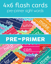 Pre Primer Sight Words Flashcards One Beautiful Home