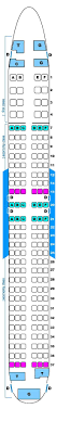Seat Map Continental Airlines Boeing B737 800 16 144