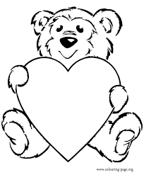 Bears Teddy Bear With A Heart Coloring Page Coloring Pages