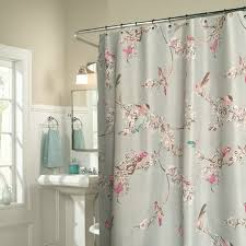 chic blue fl bird luxury shower curtains regarding curtain ideas 7