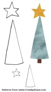 Free Christmas Tree Template Christmas Patterns For Applique Angels Christmas Trees