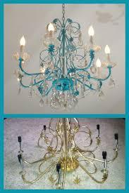 blue chandelier redo