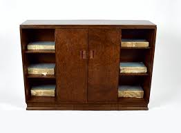 an art deco walnut bookcase art deco furniture cabinet