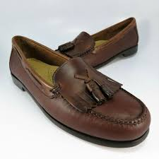 new bass weejuns jackie tassel kiltie loafers womens size 9m brown leather