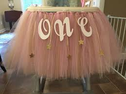 diy le le little star 1st birthday highchair decoration tulle diy firstbirthday lele
