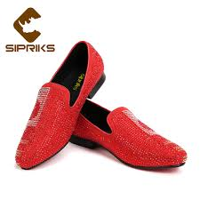 Red Designer Loafers Mens Sipriks Luxury Designer Loafers For Men Red Bottom