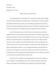 the destructors questions e the destructors the protagonist in  2 pages the destructors essay