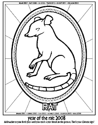 Small Picture Chinese New Year Year of the Rat Coloring Page crayolacom