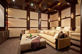 dark media room. Dark Media Room Ceiling Home Theater Contemporary With Beige Sound-proof Wall Reclining Sectional Sofas W