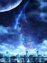 night anime scenery wallpaper. Contemporary Wallpaper Anime  Kimi No Na Wa Itu0027s Stars On Night Scenery Wallpaper M