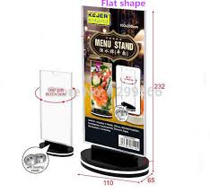 Menu Display Stands Restaurant Free shipping rotatable acrylic restaurant menu card display stand 40