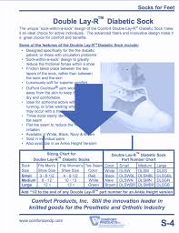Comfort Chart Pdf Double Layr Diabetic Socks Pdf Thumb Roll