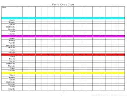 Chore Chart For Kids Free Printable Family Template Horneburg Info
