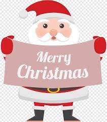 สุขสันต์วันคริสต์มาสซานต้าถือป้าย, การ์ตูน, คาแรกเตอร์การ์ตูน png
