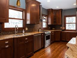 kitchens with dark brown cabinets. Colorful Kitchens Kitchen Sunmica Design Cabinet Brown Colors Cooking Classes Tallahassee Medium Oak Cabinets With Dark N