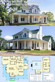 Spec Home Designs Plan 16805wg Country Farmhouse With Wraparound Porch In