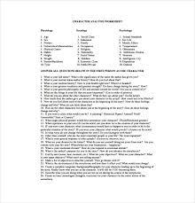 character analysis template claybanksstudio com the character 9 sample character sheet templates sample example format