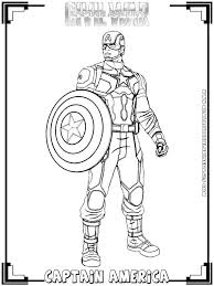Coloring Pages Captain America Civil War Coloring Pages Page