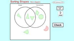 Sorting 2d Shapes Venn Diagram Ks1 Mathsframe 170 Quality Interactive Maths Games For Ks2 Geometry