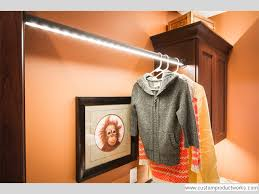 led lighted closet rod closet gallery