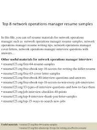 Top8networkoperationsmanagerresumesamples 150514063024 Lva1 App6892 Thumbnail 4 Jpg Cb 1431585074