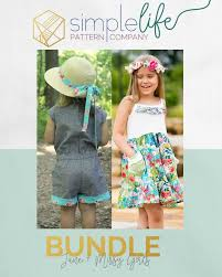 Simple Life Pattern Company Delectable Bundle Jane Missy Girls The Simple Life Pattern Company