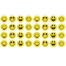 Item 1004 Happy Face Stickers Chart Size 160 Stickers Per Pack 4 Different Designs