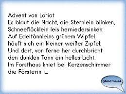 Advent Von Loriotes Blaut Die Nacht Die Sternlein Blinken