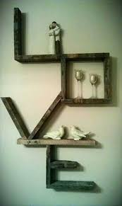 minimalist wooden pallet love wall art sign