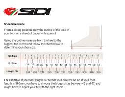 Sidi Size Chart Cycling 76 Surprising Sidi Bike Shoe Sizing