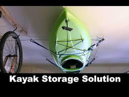 diy kayak storage solution pulley system
