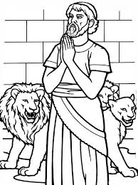 Small Picture Daniel Pray to God in Daniel and the Lions Den Coloring Page NetArt