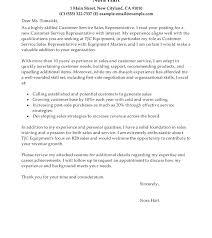 Resume Cover Letter For Customer Service Representative Sales