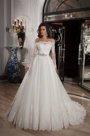 long sleeve off the shoulder court train tulle ball gown wedding