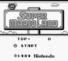 ゲームマリオはやっぱりスーパーマリオランドgbだよね