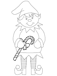 Print Coloring Page And Book Christmas Elf Coloring Pages For