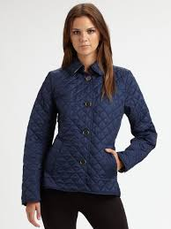 Lyst - Burberry brit 'copford' Quilted Jacket in Blue & Gallery Adamdwight.com