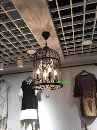 Wrought Iron Pendant Lights Kitchen Bird Cage Light Zampco