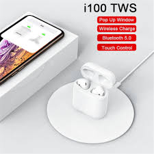 <b>I100 TWS Wireless Charging</b> Pop-up Touch Bluetooth Headset ...