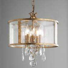 antique brass crystal frosted glass drum chandelier for traditional interior lighting decor