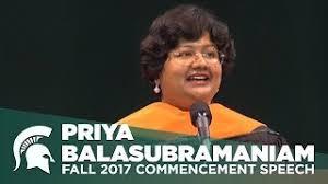 Priya Balasubramaniam - Fall 2017 Commencement Speech - YouTube