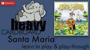 santa maria 3p play through teaching roundtable discussion by heavy cardboard