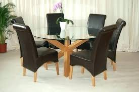 glass table with 6 chairs golden brown round dining room table 6 side chairs sets for