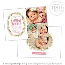 Birth Announcements Templates For Photographers Photo Card Templates ...