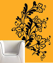 creative width flower web wall decal