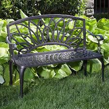 aluminum garden bench. Brilliant Aluminum Daffodil CastAluminum Outdoor Bench With Aluminum Garden N