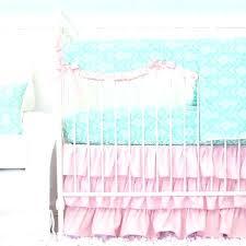 baby bedding sets for girls attractive pink crib bedding sets aqua damask ruffle v baby girl nursery bedding sets uk