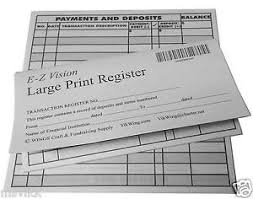Checkbook Registers To Print Details About Large Print Checkbook Register Low Vision 2018 19 20 Calendar Set Of 30