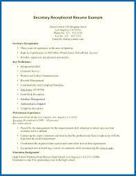 Sample Resume For Medical Receptionist Objective For Resume Medical Receptionist Resume For Medical 60